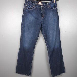 Lucky Brand high waist dungarees straight leg 12